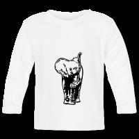 Elephant bébé-T-shirt manches longues Bébé