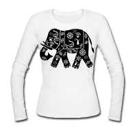 elephant inde d cor simple cr er son t shirt inde personnalis. Black Bedroom Furniture Sets. Home Design Ideas