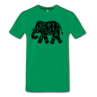 Elephant Inde décoré simple-Tee shirt
