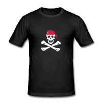 jolly roger pirate-Tee shirt