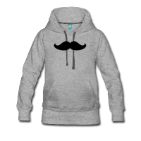 moustache épaisse-Sweat-shirt à capuche