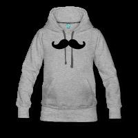 moustache ronde-Sweat-shirt à capuche