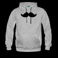 moustache-Sweat-shirt à capuche