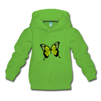 Papillon 3 motifs-Sweat à capuche
