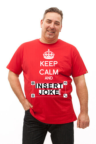 Tee shirt standard rouge keep calm