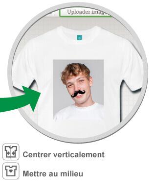 Imprimer un tee shirt moustache personnalisé