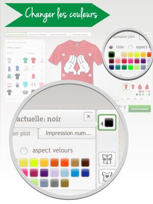 Changer les couleurs du design