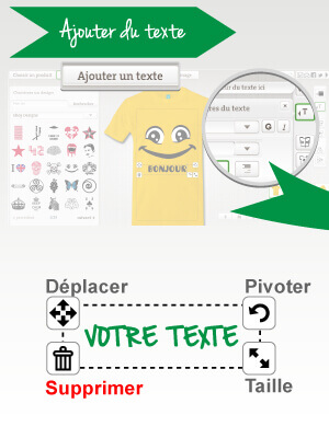 Imprimer un tee shirt avec texte