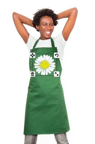 tablier à fleur personnalisé
