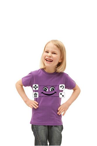 Tee shirt smiley pour enfant