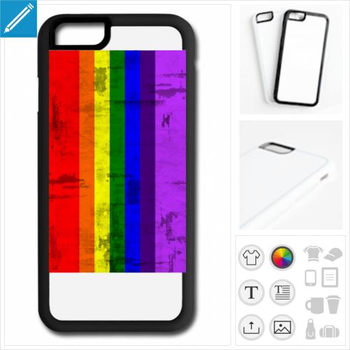 coque mobile rainbow à créer soi-même