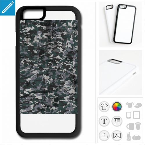 coque mobile camouflage à personnaliser et imprimer en ligne