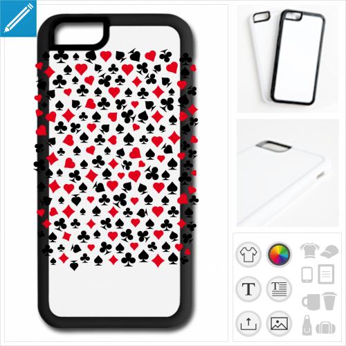 coque téléphone poker personnalisable, impression à l'unité