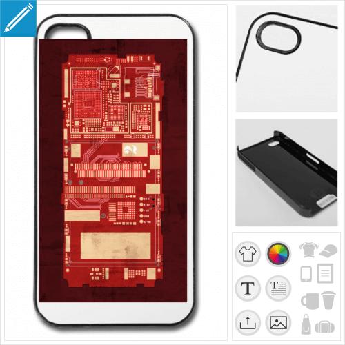 Coque de téléphone circuit imprimé à personnaliser en ligne.