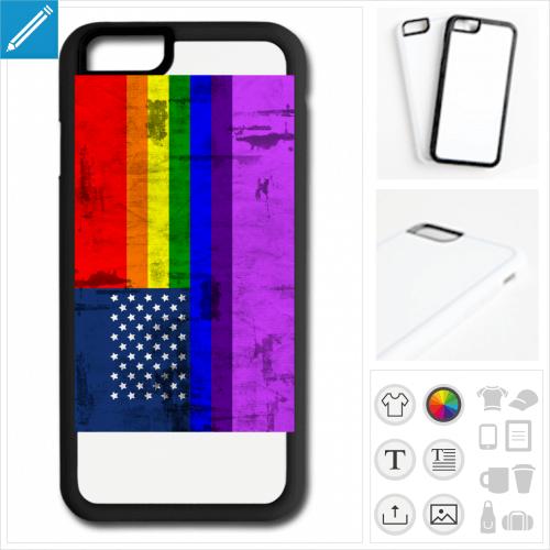 coque téléphone drapeau américain à créer en ligne