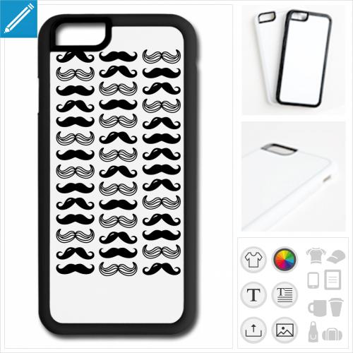 coque iPhone moustaches rigolotes à créer soi-même