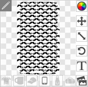 Moustaches anglaises personnalisables agencées en rectangle spécial coque smartphone.