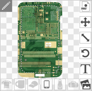 Coque pour portable Carte de circuit imprimé de téléphone à créer et personnaliser en ligne.