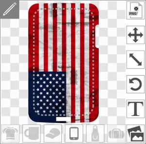 Coque téléphone Drapeau américain long à texture spécial coque customisé.