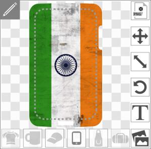 Coque mobile Drapeau indien étiré en longueur spécial coque de téléphone à imprimer soi-même en ligne.