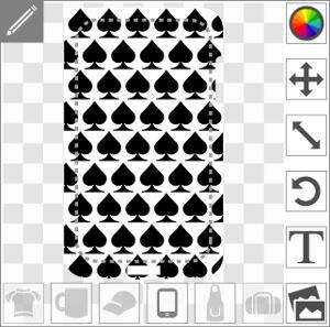 Coque Symboles piques en lignes et en quinconce à designer en ligne.