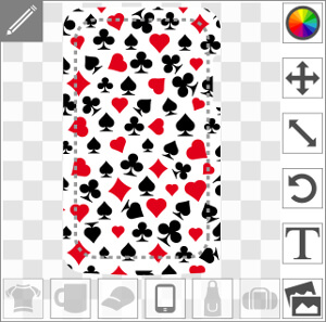 Coque pour portable Design poker à symboles de cartes à jouer customisé.