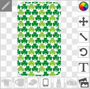 Shamrocks alignés en motif régulier spécial personnalisation de coque iPhone.