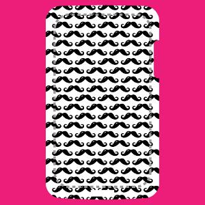 Coque mobile Moustaches anglaises réparties en motif régulier à imprimer.