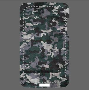 Motif camouflage bleu, image hr sp^éciale impression sur coque.