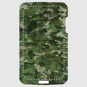 Texture camouflage militaire verte pour coque portable.
