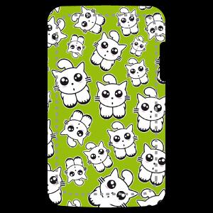 Personnalisez votre coque de portable avec ce design kawaii et printanier composé de chatons rigolos.