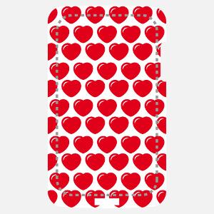 Coque smartphone Coeurs arrondis à reflet disposés en grille pour décoration de coque customisé en ligne.
