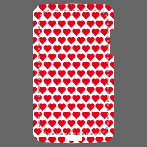 Coque mobile Motif décoratif classique composé de cœurs répétés en décor régulier à imprimer soi-même en ligne.
