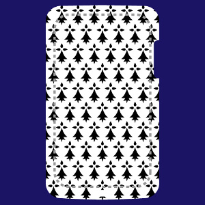 Coque Drapeau breton vertical long et rectangulaire vintage pour coque iPhone à créer soi-même.