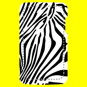 Coque smartphone Coque à rayures de zèbres fines à imprimer soi-même en ligne.