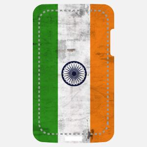 Drapeau indien vintage, aux dimensions étirées, spécial impression sur coque iPhone et smartphone.