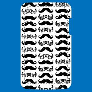 Motif moustaches hipster rigolotes à imprimer sur votre coque mobile.