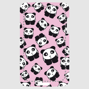 Pandas sur fond rose, image hr spéciale impression de coque portable.