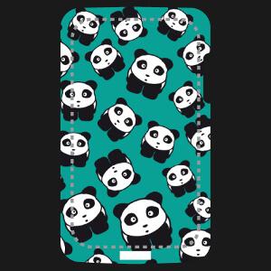Motif pandas rigolos spécial impression intégrale de coque smartphone.