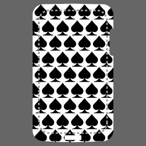 Décoration pour téléphone portable avec le symbole pique des cartes à jouer.