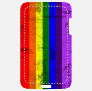 Rainbow flag vintage personnalisé, image pour impression sur coque smartphone.