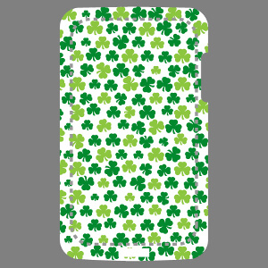 Shamrocks irlandais, design Irlande et Saint Patrick pour impression sur coque mobile.