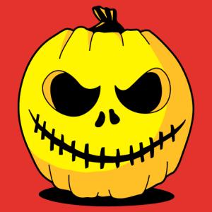 Créez votre t-shirt Halloween ou votre tote bag citrouille pour le 31 octobre. Citrouille rigolote.