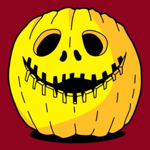 T-shirt citrouille rigolote à imprimer en ligne pour Halloween. Créer un t-shirt Halloween personnalisé.