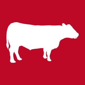 Tablier cuisinier Silhouette de vache dessinée de profil customisé en ligne.