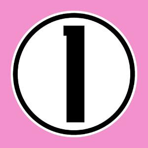 Créez votre maillot de numéro un en ligne avec ce chiffre 1 au design droit inscrit dans un cercle personnalisable.