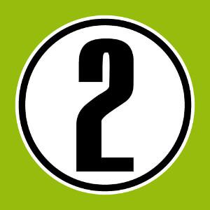 Numéro 2, un design nombre rond et opaque à imprimer sur maillot.