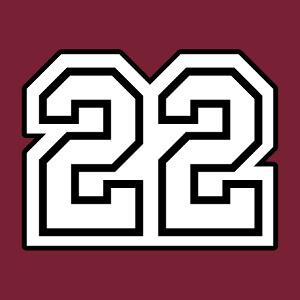 22, un design nombres et côtes d'Armor, en tracés vectoriels et fond plein, à imprimer en ligne.