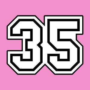 Personnaliser un t-shirt numéro 35, créer un maillot de foot ou un cadeau original.