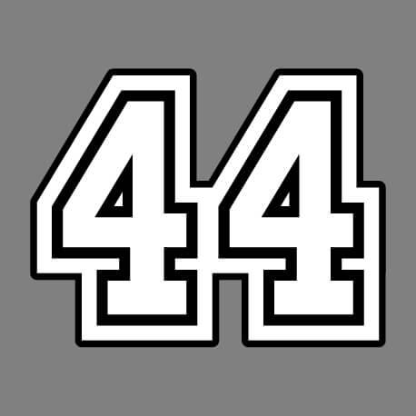 44, numéro de maillot, un design nombres et Loire Atlantique personnalisé.